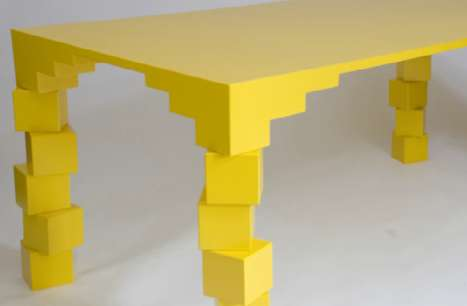 Precarious Pixelated Tables