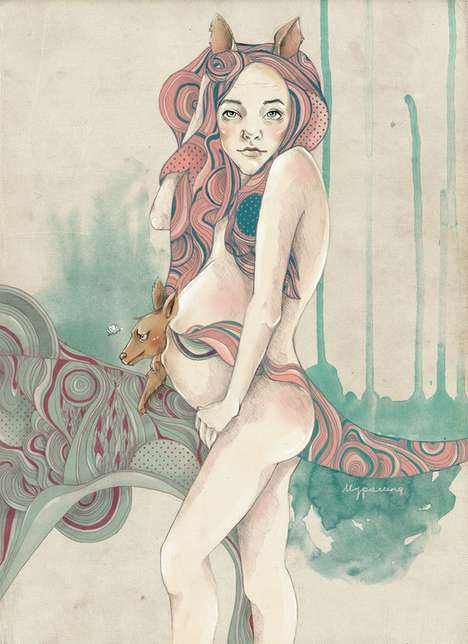 Psychedelic Female Depictions