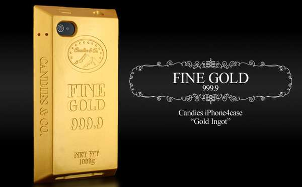 huge selection of 350a5 ed6ec Faux Midas Touch Cases : Candies Gold Bar Silicon Cover