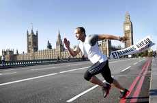 Urban Sprintvertising - Olympic Medallist Jamie Baulch is a Human Advert for LOVEFiLM