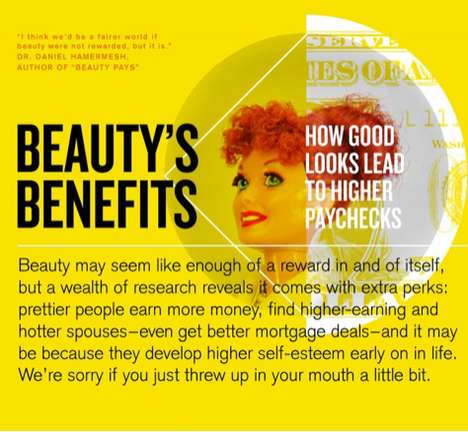 The Beauty's Benefits Infographic Shows How Good Looks Pay Off