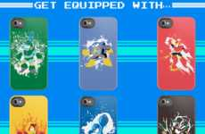 Splattered Superhero Cases - The Megaman II iPhone Case Features a Slew of Capcom Characters