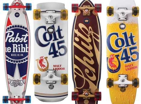 Booze-Bearing Skateboards