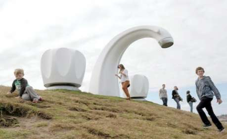 Colossal Faucet Sculptures