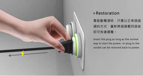 Cord-Cutting Wall Sockets - The Eco-Socket is Designed to Vanquish Energy Vampires