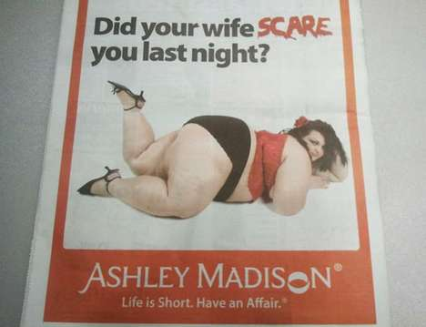 "Offensive Adultery-Promoting Ads - Ashley Madison New York Metro Ad Calls Overweight Women ""Scary"""