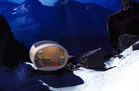 Modular Mountaintop Shelters - Living Ecological Alpine Pod Provides Comfort without Eco Expense