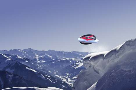 Snowslide-Scouring Choppers - The Airborne Avalanche Rescue System Locates Burried Victims