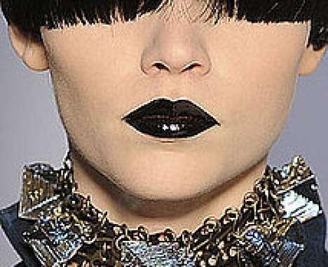 13 Bold Black Lipstick Editorials