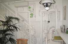 Charming Illustrated Walls - Glamora Creative Wallcoverings Enliven the Mordi e Fuggi Restaurant