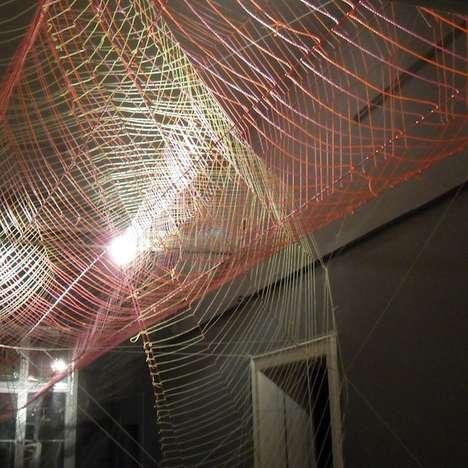 Intricately Weaved Ceiling Art