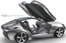 Three-Seater Eco-Coupes - The Mercedes-Benz SILK by Hyoungsoo Kim is a Roomy Roadster Redesign