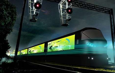 Northern Lights-Inspired Trains