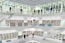 Sleekly Stacked Interiors - Germany's Stuttgart City Library Features an Open-Concept Style