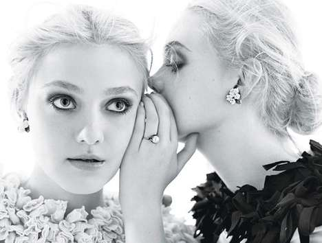 The Mario Sorrenti W Magazine Shoot Stars Elle and Dakota Fanning