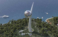 Instrument-Inspired Skyscrapers - The Berimbau Eco-Tower is Modeled After Brazilian Musical Bow