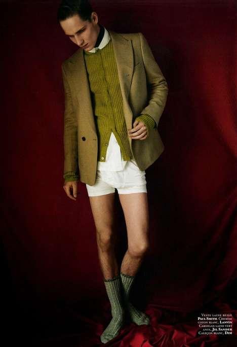Pantless Posh Fashion Shoots