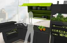 Hi-Tech Connected Kitchenettes - The iFood Kitchen Gives the Cook Control with Appliance Networking