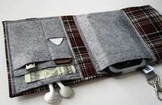 Woolen Pocket Gadget Clutches