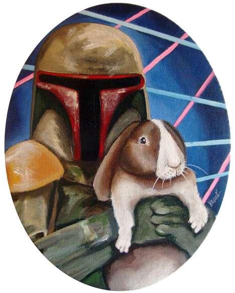 Bunny-Holding Sci-Fi Figures