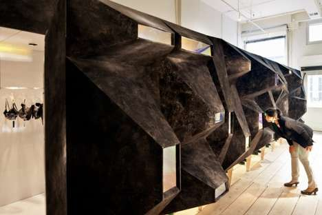 Protruding Sculptural Stores