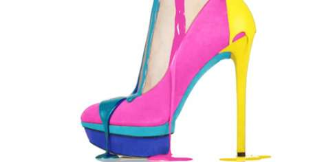 Paint-Drizzled Shoe Ads - The B Brian Atwood Resort 2012 Video is Stunning and Seductive
