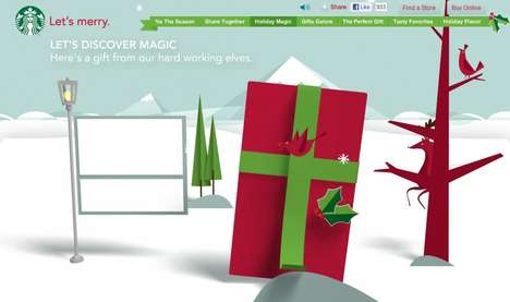 Coffee-Branded Holiday Hubs - The Starbucks 'Let's Merry' Site is Dedicated to Christmas