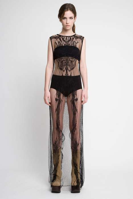 Transparent Lace Maxis