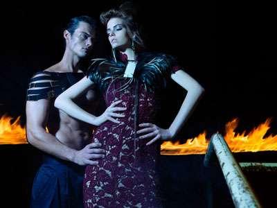 Fiery Midnight Fashion