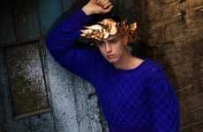 Diverse Crown-Adorning Shoots - The Fashion156 'Headwear' Editorial Shot by Fabrice Lachant