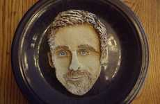 Heartthrob Pancake Portraits - Katherine Kalnes Creates Funny and Accurate Celeb Flapjacks