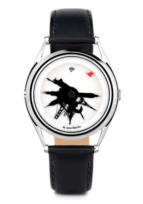 Silhouetted Landmark Timepieces
