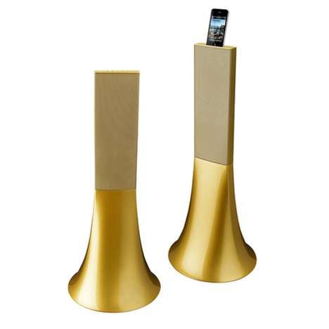 Gorgeous Gold Speakers