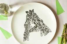 Precious Phonic Platters - These Alphabet Dinner Plates Use Food Items to Form Letters