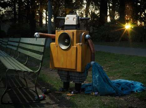 Heartbreaking Homeless Robot Sculptures