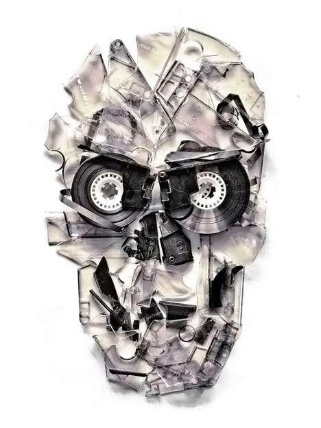 Skull Cassette Posters