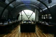 Vaulted Fabric Rooms - Paul Kaloustian Designs an Innovative Interior for MYU Restaurant