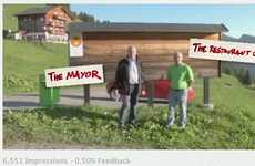 Facebook Tourism Tactics - Obermutten Campaign Posts Fan Profiles on Village Wall