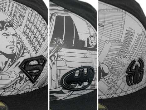 Superhero Comic Caps