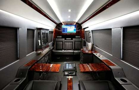 Palatial Billionaire Trucks - The JetVan Shields the Wealthy from the Prying Eyes of the 99%