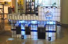 Canned Fast Food Castles - The Canned White Castle Sculpture Brings Holiday Cheer to Hungry Families