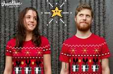 Faux Gamer Christmas Sweaters - The 8bit Christmas Shirt is Inspired by Horrendous Holiday Attire