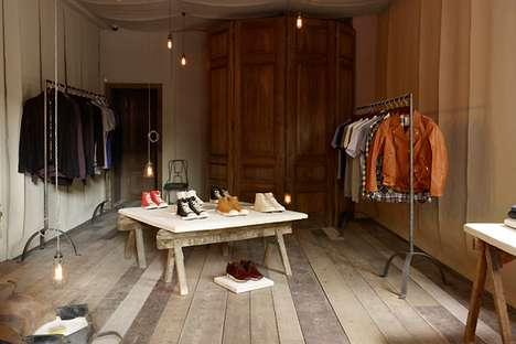 Ruggedly Raw Boutiques - Hostem Shop in London Offers a Simple & Unfinished Look