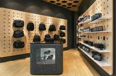 Perforated Wall Displays - The Interior of the BaDass Store by MIM Design is Fresh & Edgy