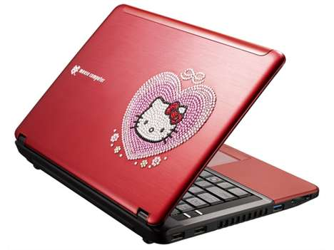 Crystallized Feline Laptops