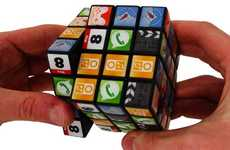 Icon Covered Brain Teasers - The App Cube Ushers the Rubik's Cube into the Modern Era