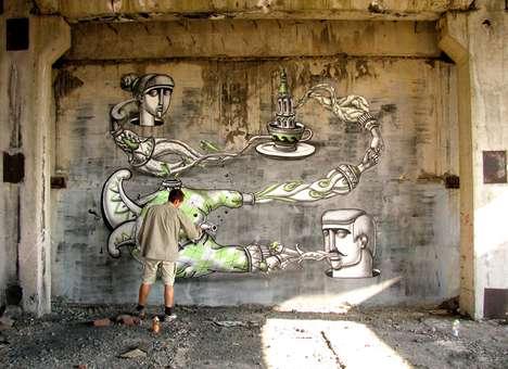 Dramatic Interactive Street Art