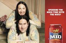 Wife-Morphing Campaigns - The Carlton Mid Ads Encourage Husbands to Take Time for Themselves