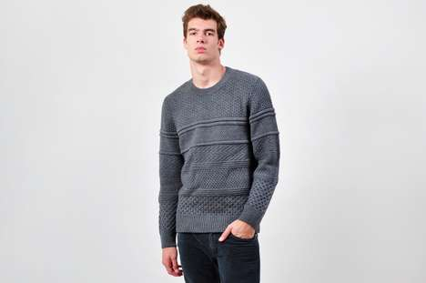 The Neil Barrett Heavy Knit Wool Sweater is Warm and Sleek