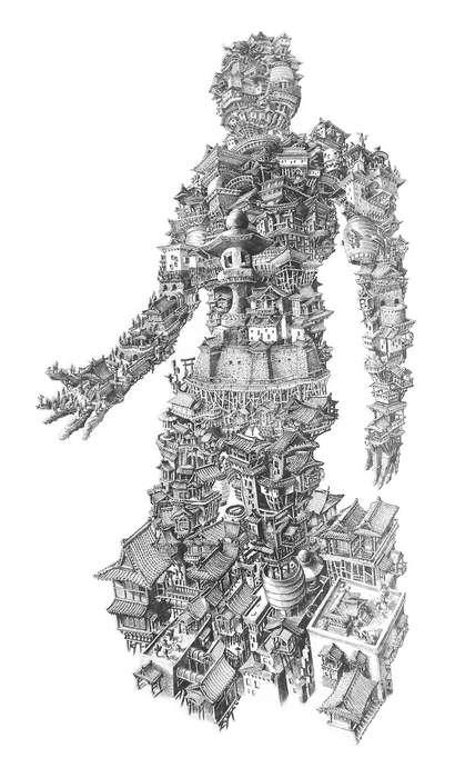 Architectural Human Artwork